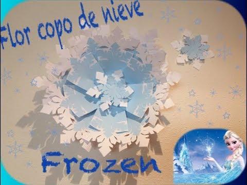 Copos De Nieve Para Decorar Fiesta Frozen.Como Hacer Flor Copo De Nieve Frozen Para Decoracion De Cumpleanos Disney
