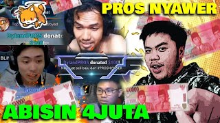 NYAWER KE STREAMER YOUTUBE ABISIN 4.200.000 DALAM SEHARI! - PROS NYAWER
