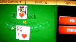 Playing Blackjack on Wildjack Casino on an iPad
