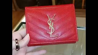 YVES SAINT LAURENT Small Envelope Wallet In Red