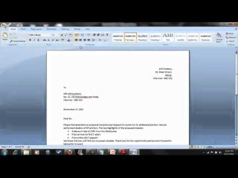 How to type resume in word 2007