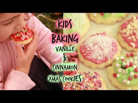 Stress free kids baking (Vanilla & Cinnamon Xmas cookies)