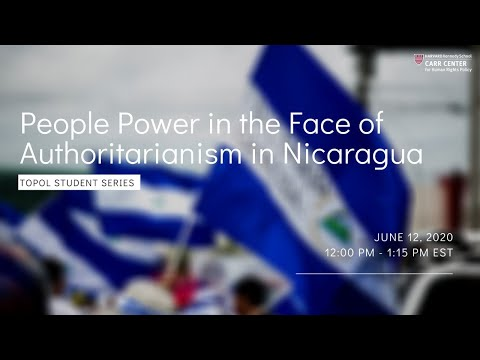 People Power in the Face of Authoritarianism in Nicaragua on YouTube