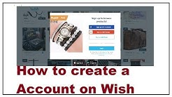 How to create a Account on Wish 2019