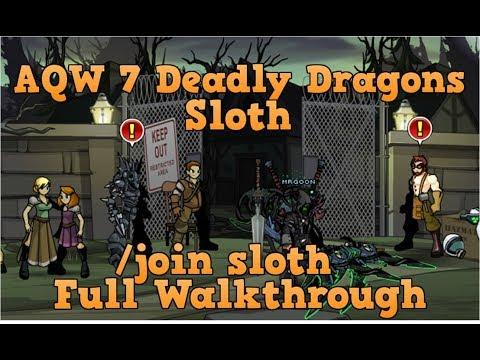 AQW /join sloth Full Walkthrough | Lim and Galanoth Quests