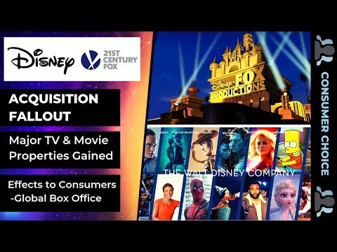 Disney Fox Acquisition A Death Blow To Consumer Market Video
