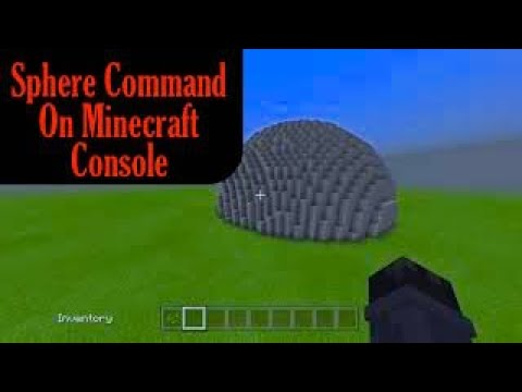 Sphere Command Tutorial For Minecraft On Console