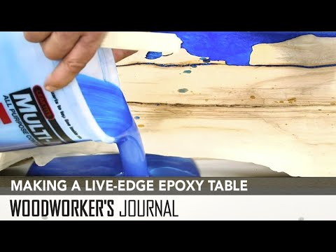 How to Make a Live-Edge and Epoxy Table | Timber Cast Epoxy Kit