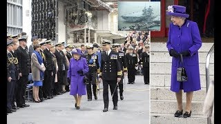 Queen watches commissioning ceremony for HMS Queen Elizabeth at Portsmouth
