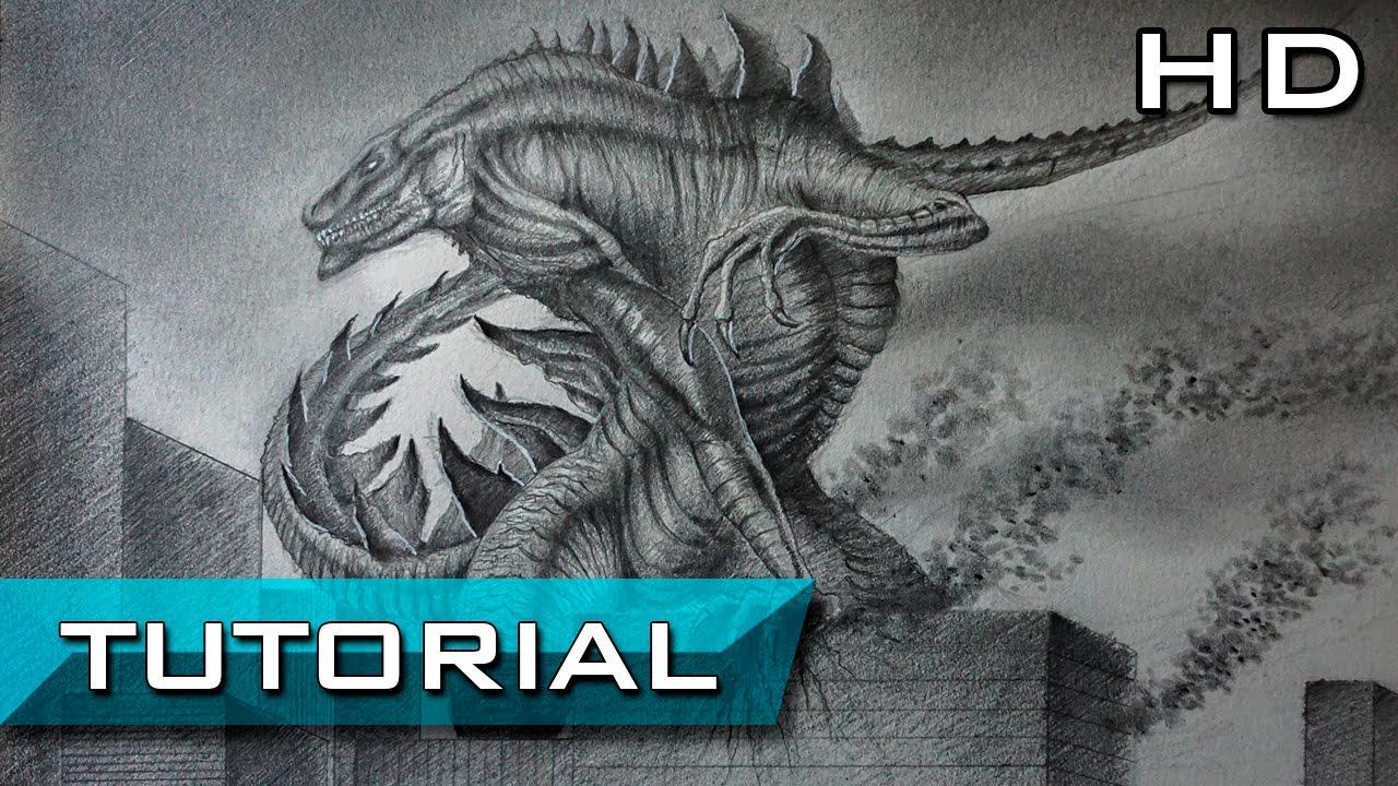 Cómo Dibujar A Zilla A Lápiz Paso A Paso Godzilla 1998 Tutorial