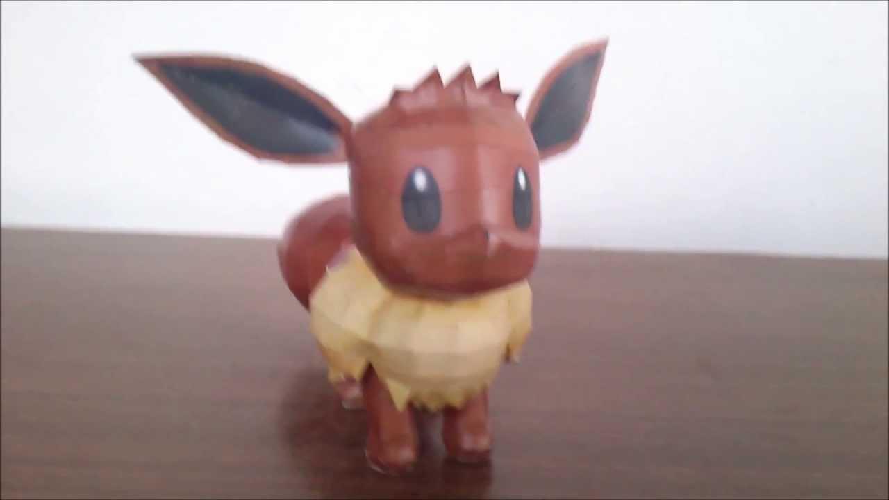 Sabi96 papercraft box pokemon eevee youtube