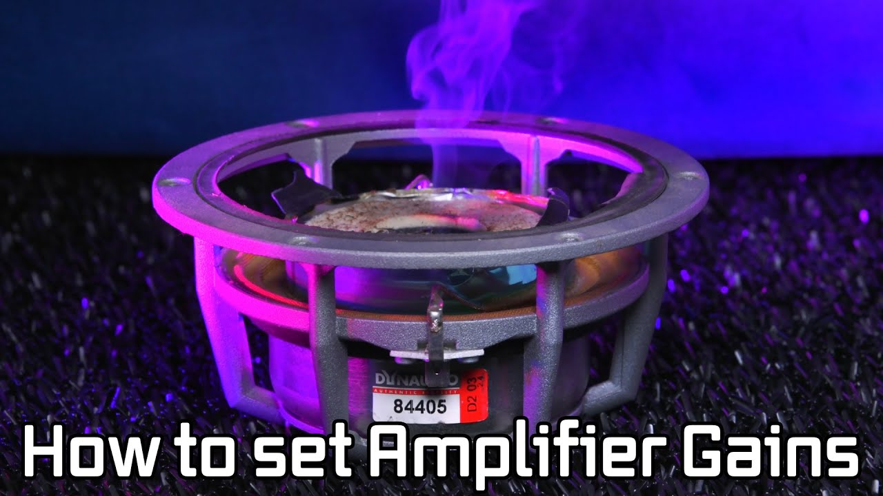How To Set Car Amplifier Gains What Is Clipping Youtube There Are Many Ways Wire Subwoofers And Amplifiers The Ideal
