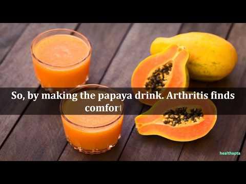 Know how Raw Papaya Drink Reduce the Pain of Arthritis