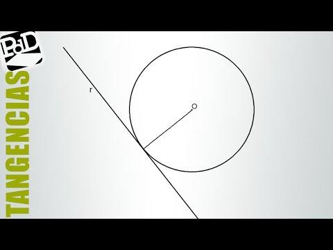 Circunferencia tangente a recta, conocido su centro.