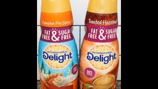 International Delight: Fat Free & Sugar Free Pumpkin Pie Spice And Toasted Hazelnut Review