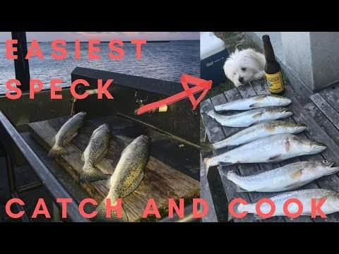 SPECKLED TROUT CATCH AND COOK NAS CORPUS CHRISTI FISHING (THE EASIEST METHOD)