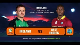 Ireland vs Westindies live cricket scrore | Tri-Nation series 2019 | 4th Match