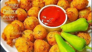 Crispy Sooji Pakora Recipe/ Teatime Recipe/ Pakoda Recipe - How to make Pakora/Pakoda at home