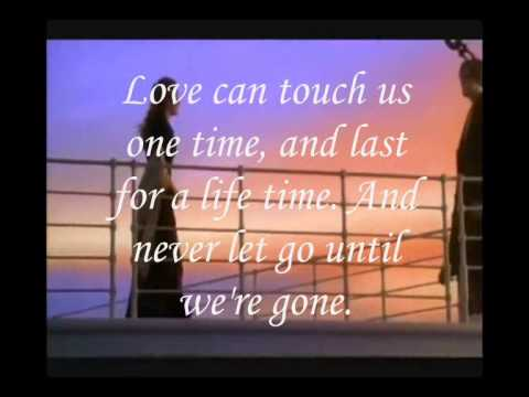 Titanic theme song My hearts will go on (Lyrics) - YouTube