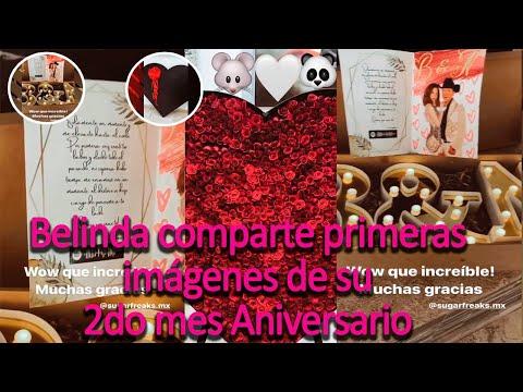 Belinda comparte primeras imágenes de su 2do Aniversario con Christian Nodal