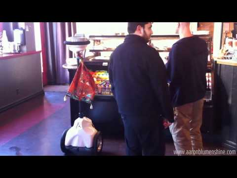 Robot Orders a Scone  in Mountain View, Ca.