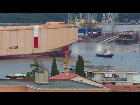 "Shiplaunching of Car carrier ""SIEM CICERO"" Nov/12/2016 Uljanik, Shipyard"