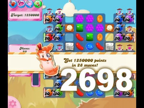 Candy Crush Saga Level 2698 No boosters