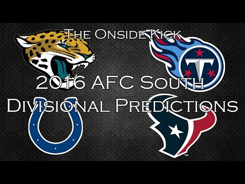 2016 AFC South Divisional Predictions