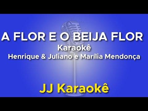 A Flor e o Beija Flor - Henrique e Juliano - karaokê com 2ª Voz