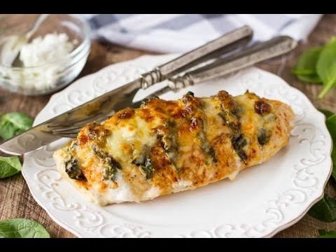 Chicken Breast With Spinach And Ricotta Cheese   Healthy Recipe