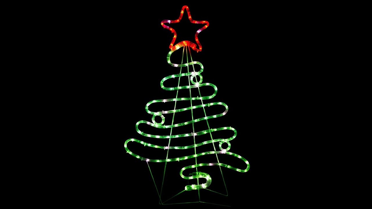 Flowing ribbon style christmas tree led rope light silhouette 90cm flowing ribbon style christmas tree led rope light silhouette 90cm aloadofball Gallery