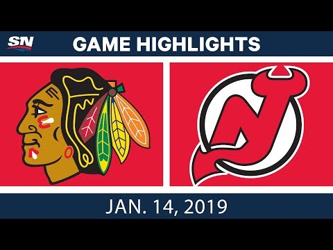 NHL Highlights | Blackhawks vs. Devils - Jan. 14, 2019