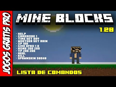 Mine Blocks 1.28 - Lista De Comandos