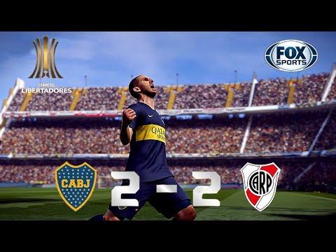 Recreación Boca Juniors 2-2 River Plate - FINAL Copa Libertadores 2018