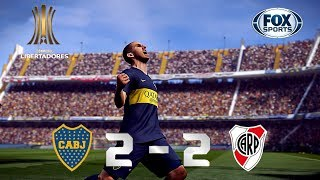 Recreación Boca Juniors 2-2 River Plate - FINAL Copa Libertadores 2018