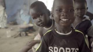 La famine en Soudan du Sud: Camp de Mangateen à Juba