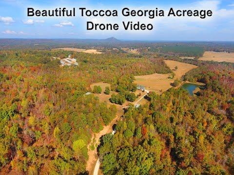 Beautiful Toccoa Georgia Acreage - 1042 Hicks Road Drone Video