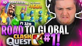 🔥😱MAXED out für 2000€?! | ROAD to PLACE 1 GLOBAL im NEUEN Supercell GAME | Clash Quest Pay 2 Win