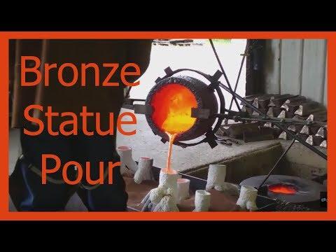 Alan Cottrill's Bronze Works OHIO, Bronze Pour!! Statues