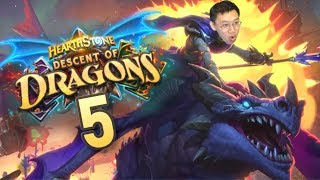 Descent of Dragons Review #5 MAXIMUM HAND SIZE OF 12?! | Hearthstone