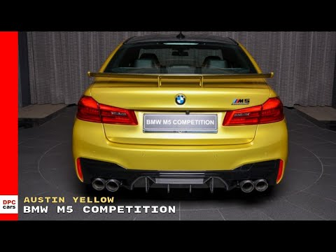 BMW M5 Competition Individual in Austin Yellow