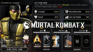 Mortal Kombat X Android Level Up / Subiendo de Nivel Scorpion Klasico