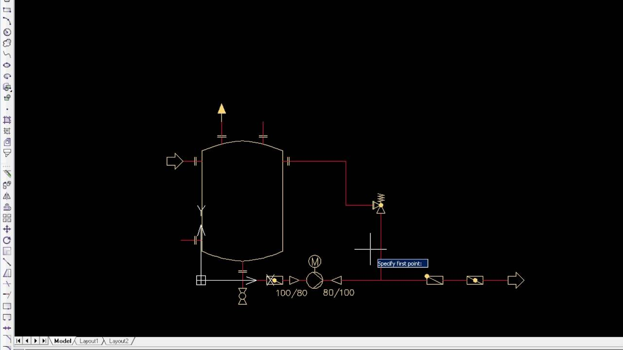 Cadprofi Hvac Piping Drawing Pid Schemes Youtube Symbols And Abbreviations
