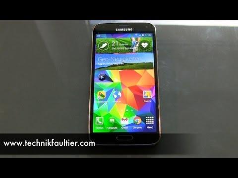 Samsung Galaxy S5 S Health Test Schrittzähler Und Herzschlag Youtube