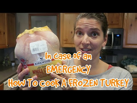 how to cook a frozen turkey