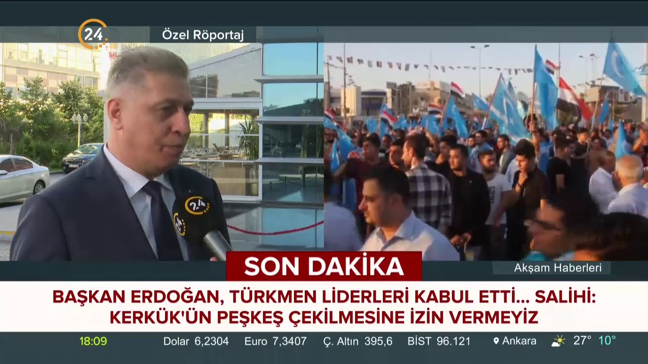 Erşat Salihi, Irak'taki Türkmenler hakkında 24 TV'ye konuştu