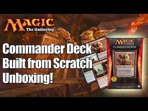 MTG - Built From Scratch Commander Deck 2014 Unboxing & Review