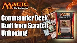 Mtg - Built From Scratch Commander Deck 2014 Unboxing & Review