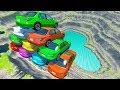 BeamNG Drive - Car Pyramid Cliff Falls And Crashes #3