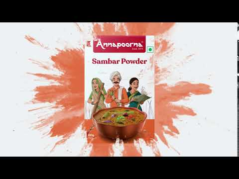 Annapoorna Sambar Powder - Unveiling the new packaging